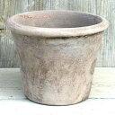 植木鉢 おしゃれ テラコッタ テラアストラアダーラL< 41cm 14号 底穴あり ベージュ ブラウン 白 シャビー 陶器鉢 素…