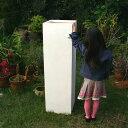 プランター おしゃれ 大型 プラスチック 角柱タワープランター<Φ 35cm × H 120cm 穴あり 白 四角 シグマ バスク 縦…