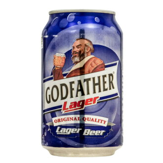 The Godfather Lager beer 330 ml 1 can GOD FATHER LAGER alcohol will become a 20-year-old from