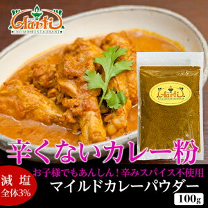 マイルドカレーパウダー (100g)辛くない,カレー粉ゆうメール便送料無料,カレー粉は万能調味料,カップ麺 レトルトカレーの仕上げに 業務用 アールティー カレー Curry Powder ドライカレー スパ