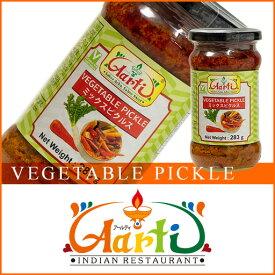 ベジタブルピクルス 283g1本,Vegetarian,Pickles,漬け物,Achar,インド料理,インドカレー,スパイス,食材,材料 , RCP