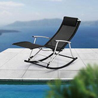 [Folding rocking chair (black)]