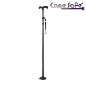 Immediate delivery ★ freestanding multifunctional stick ease-of-use ♪ powered LED light shines on folding free-standing wand 5-stage height adjustment OK foot or hand ♪ cane cane walking care silver Cane safe (cancer f)
