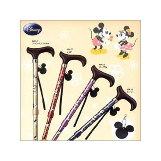 Anime series lightweight aluminum cane Disney Mickey Mouse Minnie mouse walking stick cane 30 cm compact new joint Mickey & Minnie folding 5-stage control wand