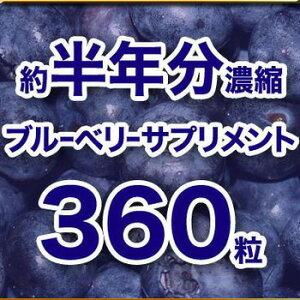 【約半年分濃縮ブルーベリーサプリメント 360粒】2個以上代引送料無料!4個で1個オマケ♪アイケアサプリを飲んで快適ブルーベリー生活♪しかも約半年分を2週間で飲みきる新提案!?約半年分