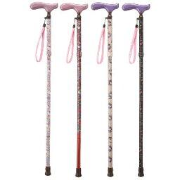 放心的SG標記有很受歡迎的基梯的拐杖♪拐杖護理銀子用品拐杖人物!!5個階段調節Hello Kitty鋁製造折疊拐杖