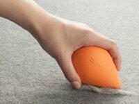 ○【OPPOketoriオッポケトリ】(オレンジ)「W」ペットの抜け毛を集めてとることができる清掃具(CL-669-000-8)「株式会社テラモト」