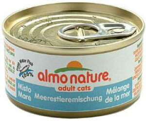 ○アルモネイチャー/almo nature 缶詰ウェットフード シーフードミックス 70g(キャットフード/ペットフード/猫/ネコ)