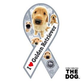 ●【メール便2個・ネコポス3個OK】株式会社TRYL リボンマグネット THE DOGシリーズ ゴールデンレトリーバー