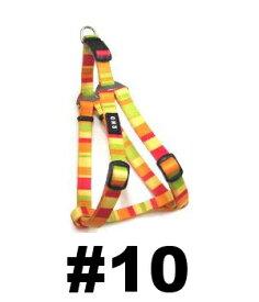 ○【メール便4個・ネコポス4個までOK】岡野製作所 レインボーハーネス オレンジ #10 (猫・超小型犬用)