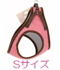 ○【メール便2個・ネコポス3個OK】ターキー ウィッティガーデン 水玉ソフト胴輪 Sサイズ(小型犬用) ピンク