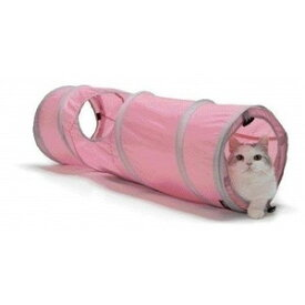 ○猫壱 キャットトンネル スパイラル ピンク (ペット/猫/ネコ/おもちゃ)
