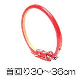 【メール便2個・ネコポス2個OK】○岡野製作所 ロール丸首輪 #3 ON-46 赤