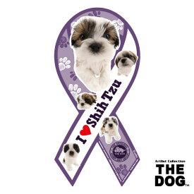 ●【メール便2個・ネコポス3個OK】株式会社TRYL リボンマグネット THE DOGシリーズ シーズー