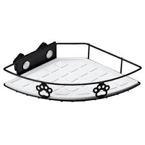 ○アニーコーラス グルメラック シングル ブラック「W」 食器や水飲みを置くのに便利!