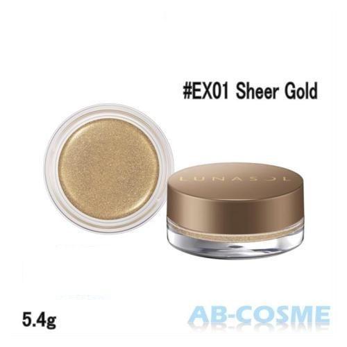 カネボウ ルナソル LUNASOL シマーカラーアイズ 5.4g #EX01 Sheer Gold 限定[ ジェル・クリームアイシャドウ ] 2018夏