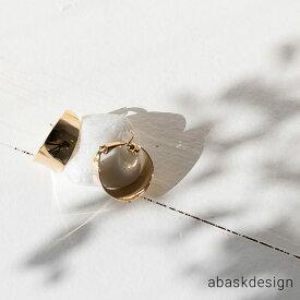 【メール便送料無料】 カーブプレート フープイヤリング シンプル 女性 大人 アクセ アクセサリー ギフト ホワイトデー