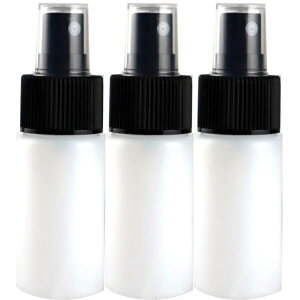 スプレーボトル 日本製PE半透明ボトル 黒ヘッド 30mL 3本セット 遮光性 消毒 除菌用 空容器 30sh-bk3