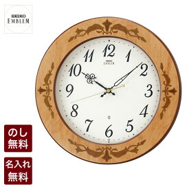 【ポイント12倍!9/20スタート】 セイコー クロック 掛時計 SEIKO EMBLEM セイコー エンブレム エムブレム 木象嵌で象った美しい百合 電波時計 HS557A