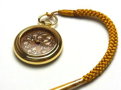 【バンド調整、ラッピング無料】高級蒔絵時計「浄雅」URUSHIMAKIE漆塗りハンドメイド文字盤「梅」クオーツ懐中時計