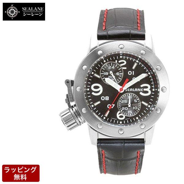 シーレーン SEALANE クォーツ メンズ 腕時計 SE41-LBK