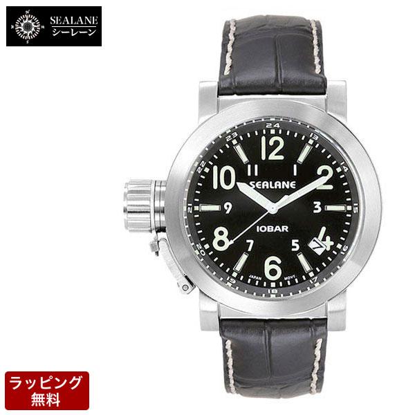 シーレーン SEALANE クオーツ メンズ 腕時計 SE43-LBK