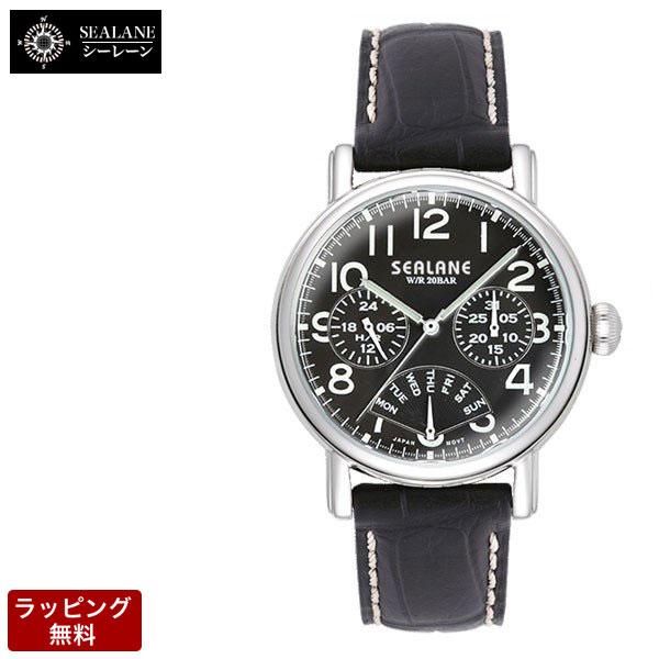 シーレーン SEALANE クオーツ メンズ 腕時計 SE45-LBK
