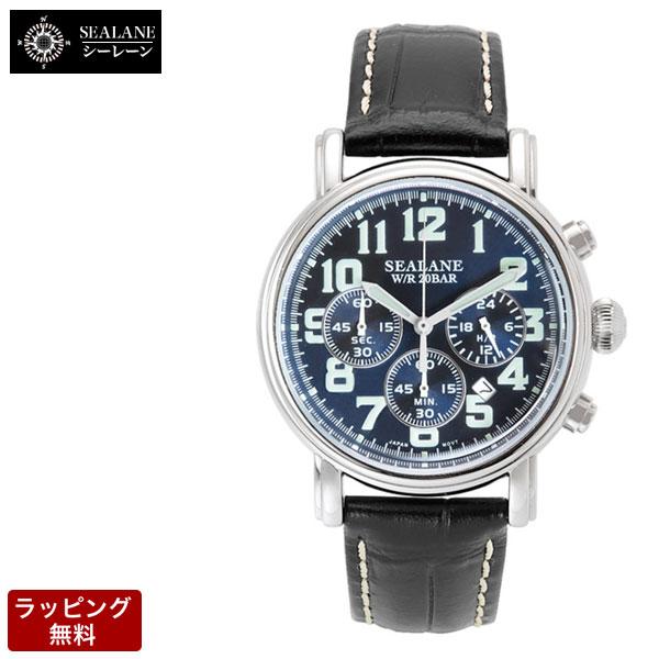 シーレーン SEALANE クオーツ メンズ 腕時計 SE48-LBL