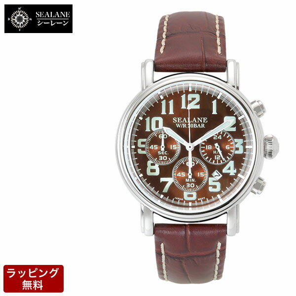 シーレーン SEALANE クオーツ メンズ 腕時計 SE48-LBR