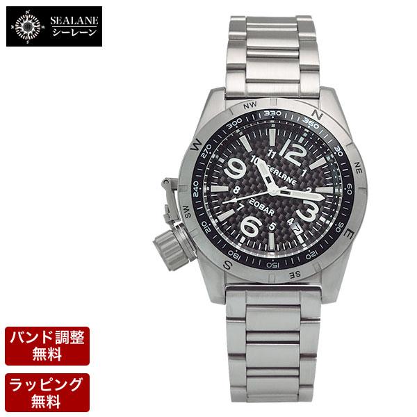 シーレーン 腕時計 SEALANE 自動巻 メンズ 腕時計 SE53-MBK