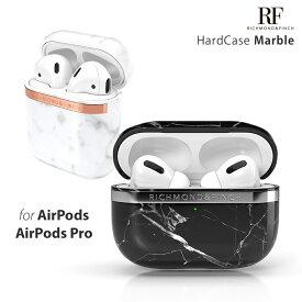 Richmond & Finch AirPods Pro / AirPods ハードケース [ 大理石 ワイヤレス充電 Qi 対応 耐衝撃 保護 カバー ケース 北欧デザイン プロテクター ] Marble