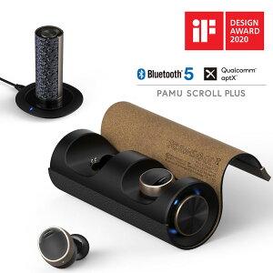 ブルートゥース イヤホン 完全ワイヤレスイヤホン コードレス イヤフォン PaMuScroll Plus +ワイヤレス充電レシーバー パムスクロール Padmat Bluetooth スポーツ ワイヤレスイヤホン カナル型 テレ