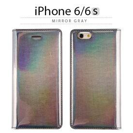 iPhone6s ケース 手帳型 GAZE Mirror Gray Diary(ゲイズ ミラーグレーダイアリー) グレー エナメル ホログラム スマホケース iPhone6s iPhone6sPlus iPhoneカバー おしゃれ 人気 通販 かわいい 可愛い アイフォン6s アイホン6s