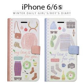 iPhone6s ケース 手帳型 Happymori Winter Daily Diary(ハッピーモリ ウィンターデイリーダイアリー) 冬 ライフ 生活 女子 男子 スマホケース iPhone6s iPhone6sPlus iPhoneカバー おしゃれ 人気 通販 かわいい 可愛い アイフォン6s アイホン6s