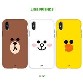 iPhone XS / X ケース iPhone XS Max ケース iPhone XR ケースLINE FRIENDS DUAL GUARD FACE(ラインフレンズ デュアルガード フェイス)アイフォン カバー