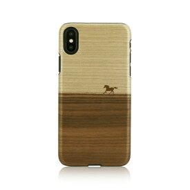 iPhone XS / X ケース天然木 Man&Wood Mustang(マンアンドウッド マスタング)アイフォン カバー 木製