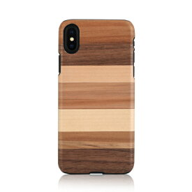 iPhone XS Max ケース天然木 Man&Wood Sabbia(マンアンドウッド サッビア)アイフォン カバー 木製
