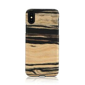 iPhone XS Max ケース天然木 Man&Wood White Ebony(マンアンドウッド ホワイトエボニー)アイフォン カバー 木製