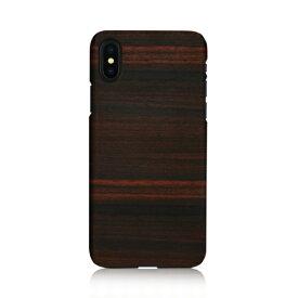 iPhone XS Max ケース天然木 Man&Wood Ebony (マンアンドウッド エボニー)アイフォン カバー 木製