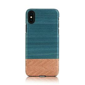 iPhone XS Max ケース天然木 Man&Wood Denim(マンアンドウッド デニム)アイフォン カバー 木製