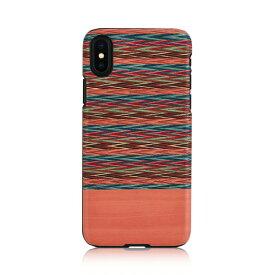 iPhone XS Max ケース天然木 Man&Wood Browny Check(マンアンドウッド ブラウニーチェック)アイフォン カバー 木製