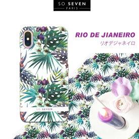 iPhone XS / X ケース SO SEVEN RIO DE JIANEIRO(ソー セブン リオデジャネイロ)アイフォン カバー ボタニカル柄