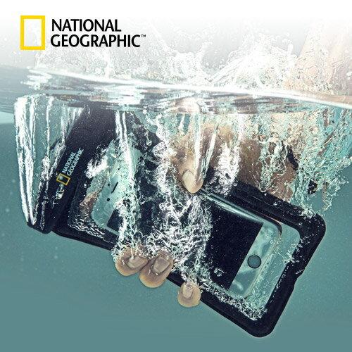 スマホ 防水ケース IPX8 4重ロック 完全防水 National Geographic(ナショナル ジオグラフィック)各種スマホ対応 アームバンド ネックストラップ付き 最大6.3インチまで対応 ナショジオ