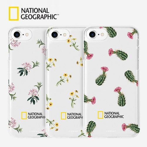 iPhone 8 / 7 ケース National Geographic Flower Pattern Style Case Jelly(ナショナル ジオグラフィック フラワーパターンスタイルケース ゼリー)アイフォン カバー スマホケース ナショジオ