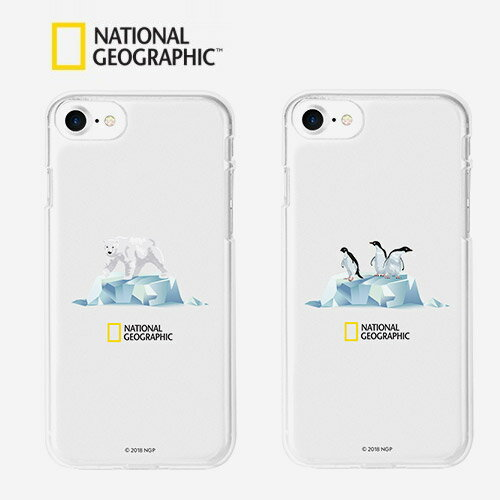 iPhone 8 / 7 ケース National Geographic Icebergs Case Jelly(ナショナル ジオグラフィック アイスバーグケース ゼリー)アイフォン カバー スマホケース ナショジオ