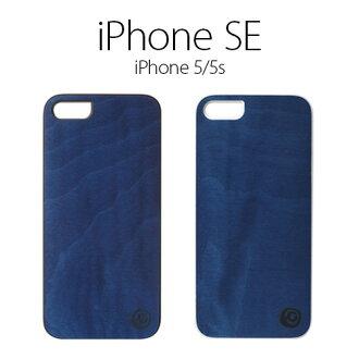 iPhone SE/5s/5情况情况[天然木]Man&Wood Real wood case Vivid Midnight Blue(人和木材午夜蓝色)黑色/白架子木纹树的情况木制木材情况智能手机箱盖硬件情况iPhone AIPHONE