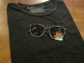 ■ドットダッシュ(DOT DASH)■ポケットTシャツ+サングラス(BLUE BEAT) スペシャルセット■ブラック■(メンズ)S/M/Lサイズ