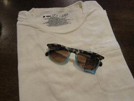 ■ドットダッシュ(DOT DASH)■ポケットTシャツ+サングラス(BLUE BEAT) スペシャルセット■ホワイト■(メンズ)S/M/Lサイズ