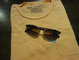 ■ドットダッシュ(DOT DASH)■ポケットTシャツ+サングラス(BLUE BEAT) スペシャルセット■コーラルオレンジ■(メンズ)S/M/Lサイズ