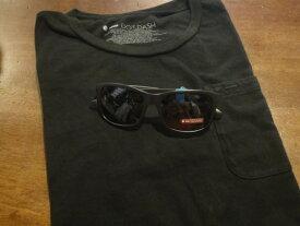 ■ドットダッシュ(DOT DASH)■ポケットTシャツ+サングラス(POSEUR) スペシャルセット■ブラック■(メンズ)S/M/Lサイズ